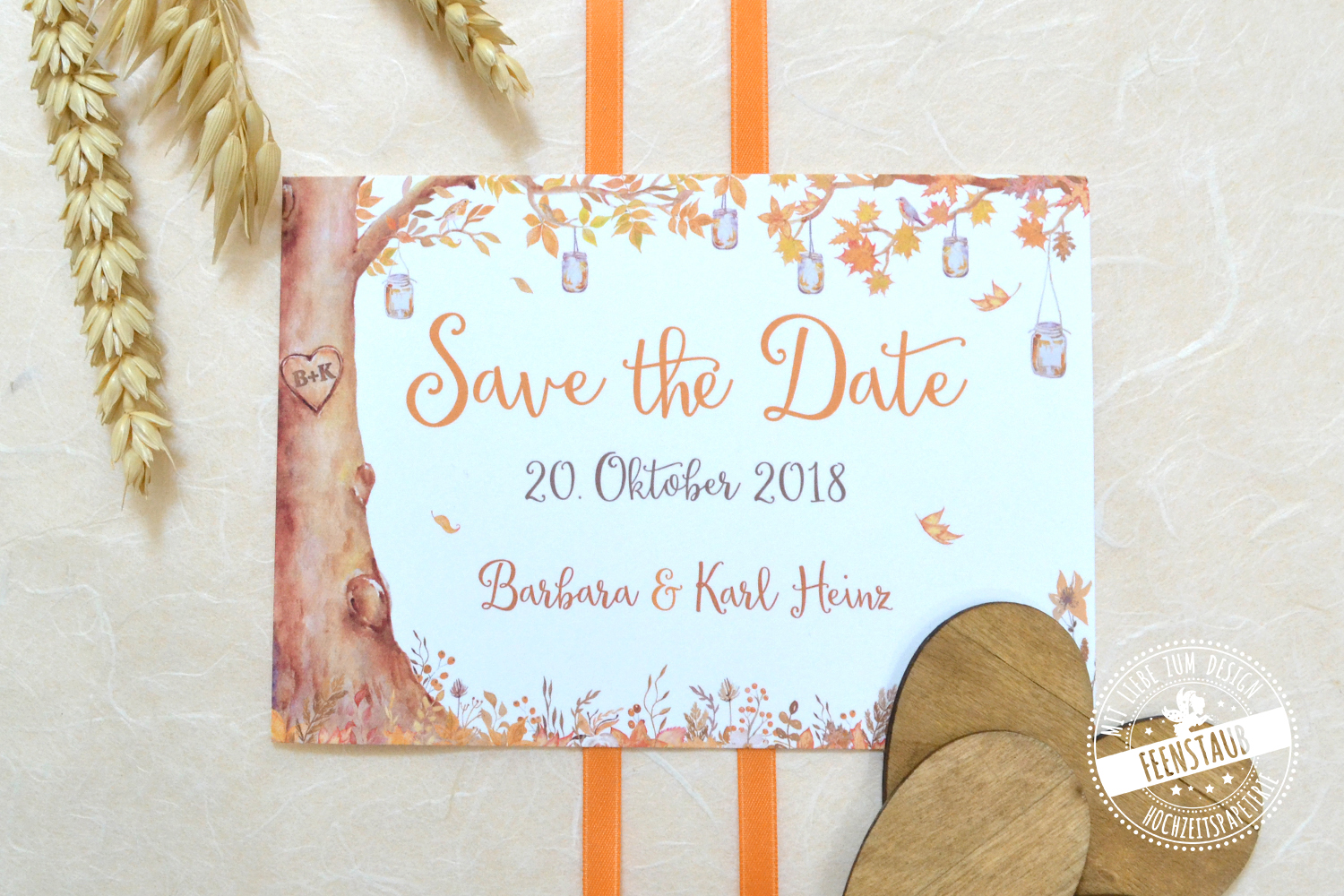 Save the Date Karte Thema Herbst